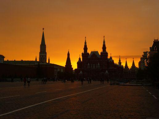 Praça Vermelha - Museu de História Russo (pôr-do-sol)