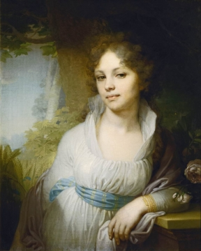 "V. Borovikovski - ""Retrato de Maria Lopukina"" - Galeria Tretyakov - Fonte: http://www.tretyakovgallery.ru/en/collection/_show/image/_id/403"